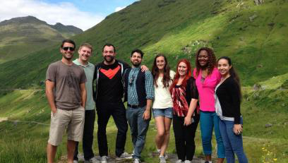 Creative Writing cohort in Italy.